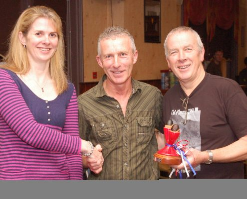 The 10-mile tandem trophy winners