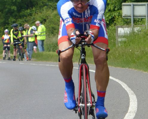 Womack setting off (photo by Fergus Muir)