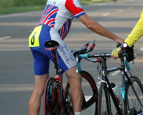 Womack preparing for a recent Godric CC ride