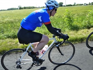Kate Churchill on a club ride